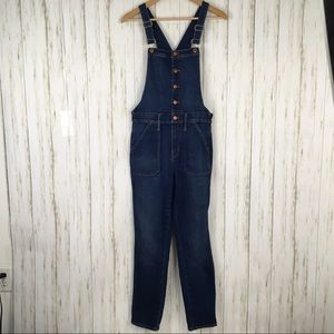 Madewell Button Front Skinny Denim Overalls